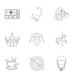 the amusement park rides the attributes of a vector image