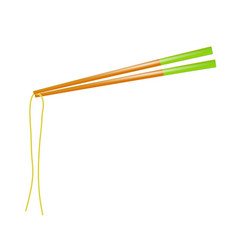 Traditional colored asian chopsticks for food vector