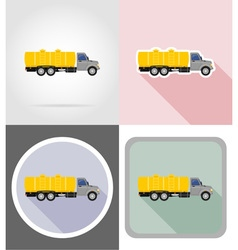 truck flat icons 05 vector image vector image