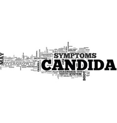 What is candida text word cloud concept vector