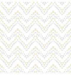 White geometric texture with hand drawn chevrons vector image vector image