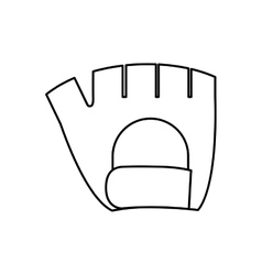 Glove fitness healthy lifestyle icon vector
