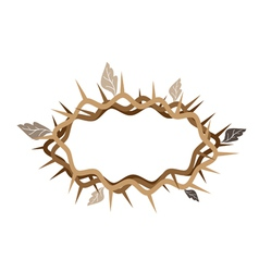 A crown of thorns with dried leaves vector