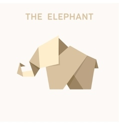 Animal Origami elephant into flat vector image