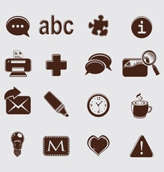 Web set icons on grey vector