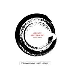 Hand drawn grunge circle shape vector image