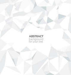 Abstract crumpled white paper background vector image