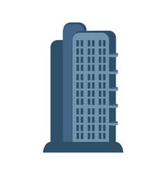 Modern skyscraper isolated icon vector