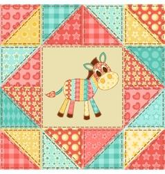 Zebra quilt pattern vector