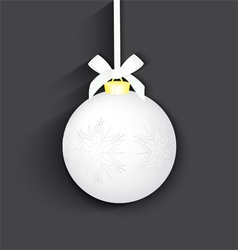 Christmas silver ball vector