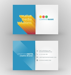 Creative business card design print template vector
