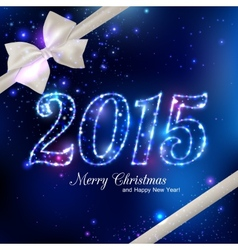 Happy new year 2015 celebration concept with white vector