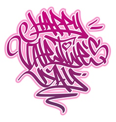 Happy valentines day graffiti vector