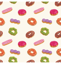 Seamless pattern of donut vector
