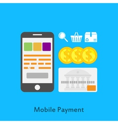 Mobile paymets vector