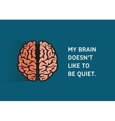 Brain quote vector