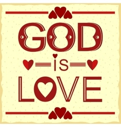 Bible verse god is love in red vector