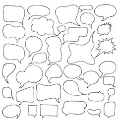 Set of cartoon speech and thought bubbles vector