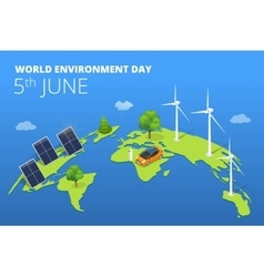 World environment day concept saving nature and vector