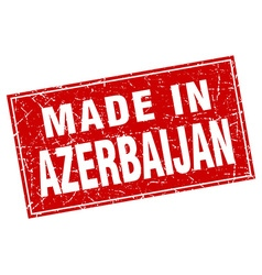 Azerbaijan red square grunge made in stamp vector