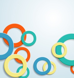 abstract background with rings vector image