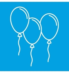 Balloons thin line icon vector image