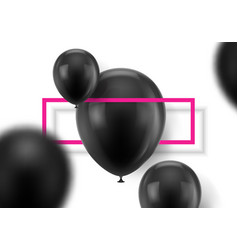 Black balls on white background vector