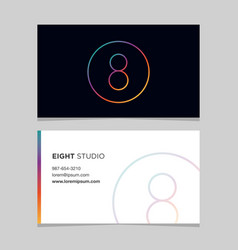 business-card-number-8 vector image vector image