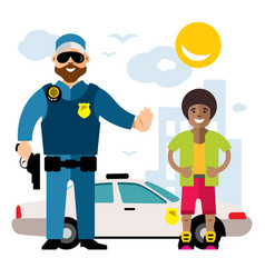 city police law enforcement flat style vector image vector image