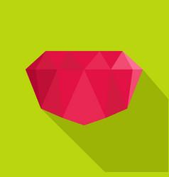 Crimson gem icon flat style vector