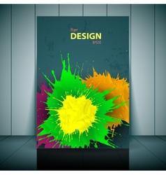 Dental brochure flyer magazine cover poster vector