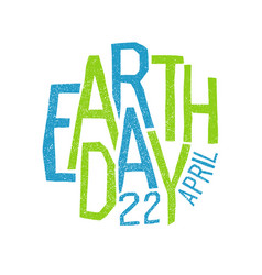 earth day 22 april holiday logotype design vector image vector image