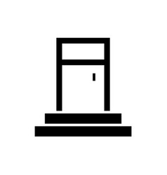 entrance door icon black vector image