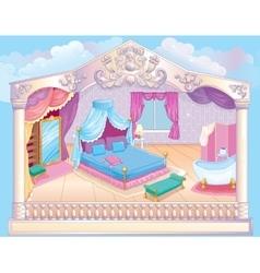 Fairytale luxury princess bedroom vector