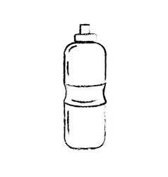 Figure bottle of water to reshness in the gym vector