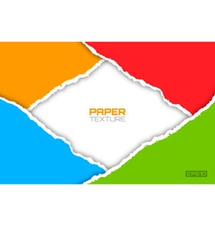 Frame of colorful bright lacerated papers vector
