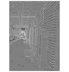 Grunge Train Platform vector image vector image