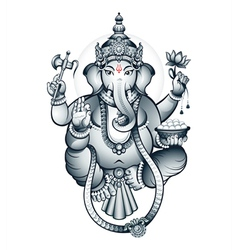 Indian god Ganesha vector image vector image