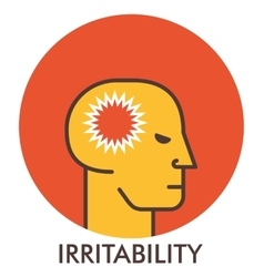 Irritability thorn line icon with flat design vector