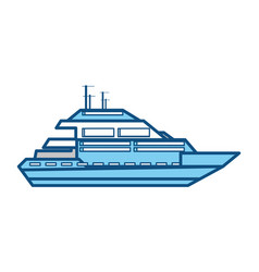 Isolated cute yacht vector