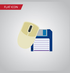 isolated floppy disk flat icon computer mouse vector image vector image
