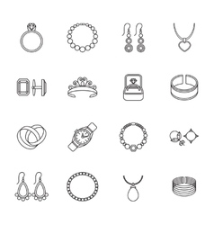 Jewelry icon outline vector
