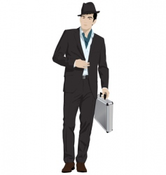 man in hat vector image vector image