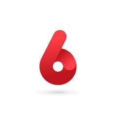 Number 6 logo icon design template elements vector image
