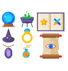 Special magic symbol magician fantasy carnival vector