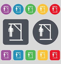 Suicide concept icon sign a set of 12 colored vector