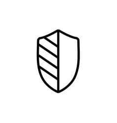 thin line security shield icon vector image vector image