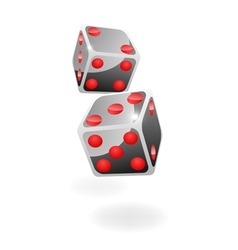 Two black dice vector image