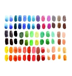 Watercolor palette vector image vector image