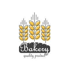 Bakery logo isolated line outline wheat vector